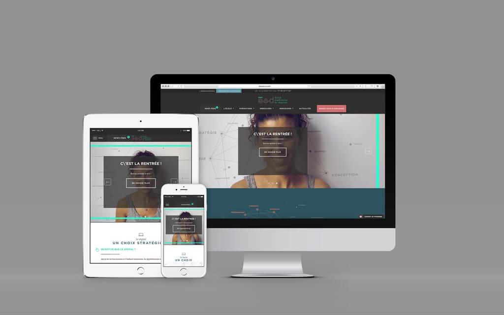 nouveau site ESD - École Supérieure du Digital