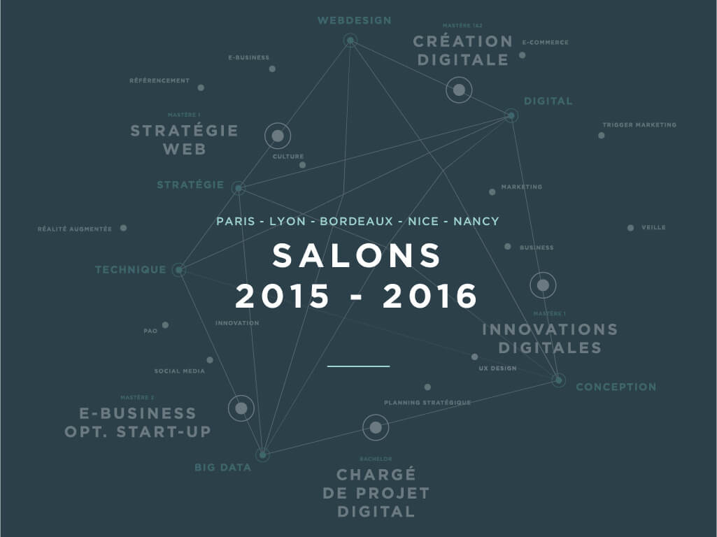 Les salons 2015 2016 cole sup rieure du digital for Salon studyrama bordeaux