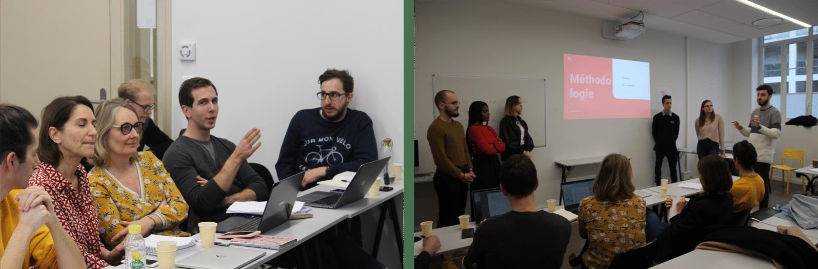 Jury et présentation lors de l'UX Camp de l'ESD Lyon avec MyBrian